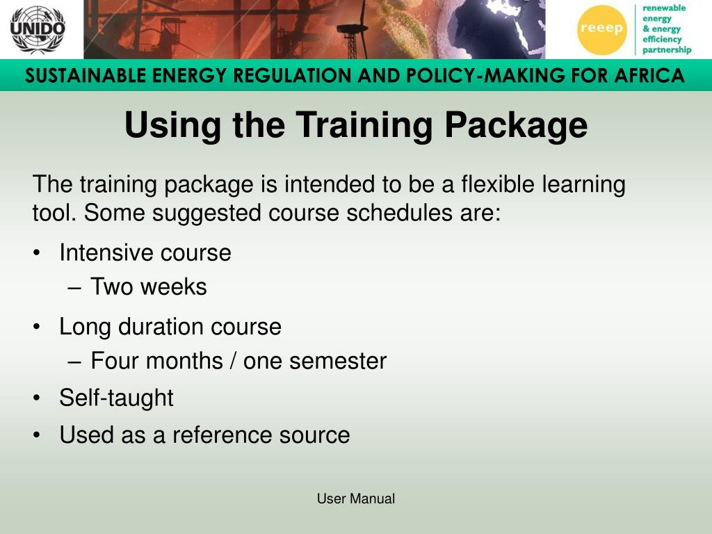 Using the Training Package