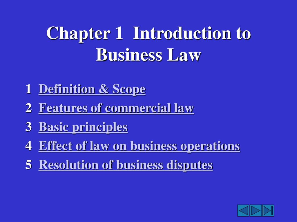 chapter 1 introduction to business law l.