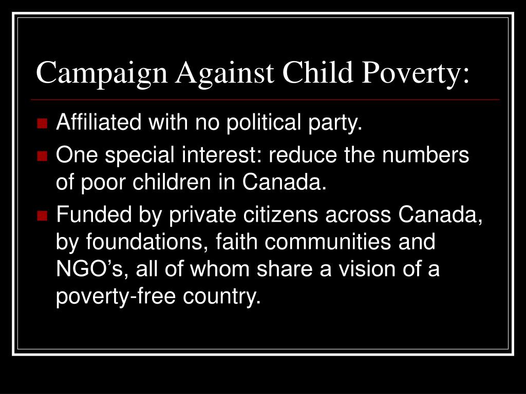 Campaign Against Child Poverty: