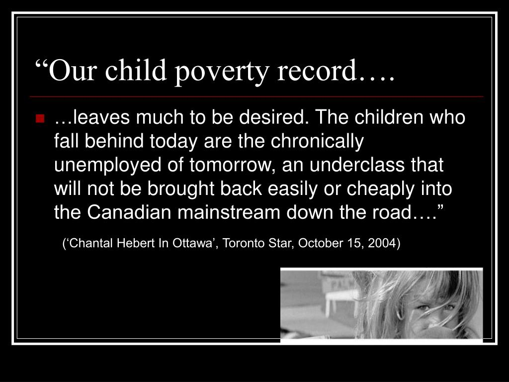 """Our child poverty record…."