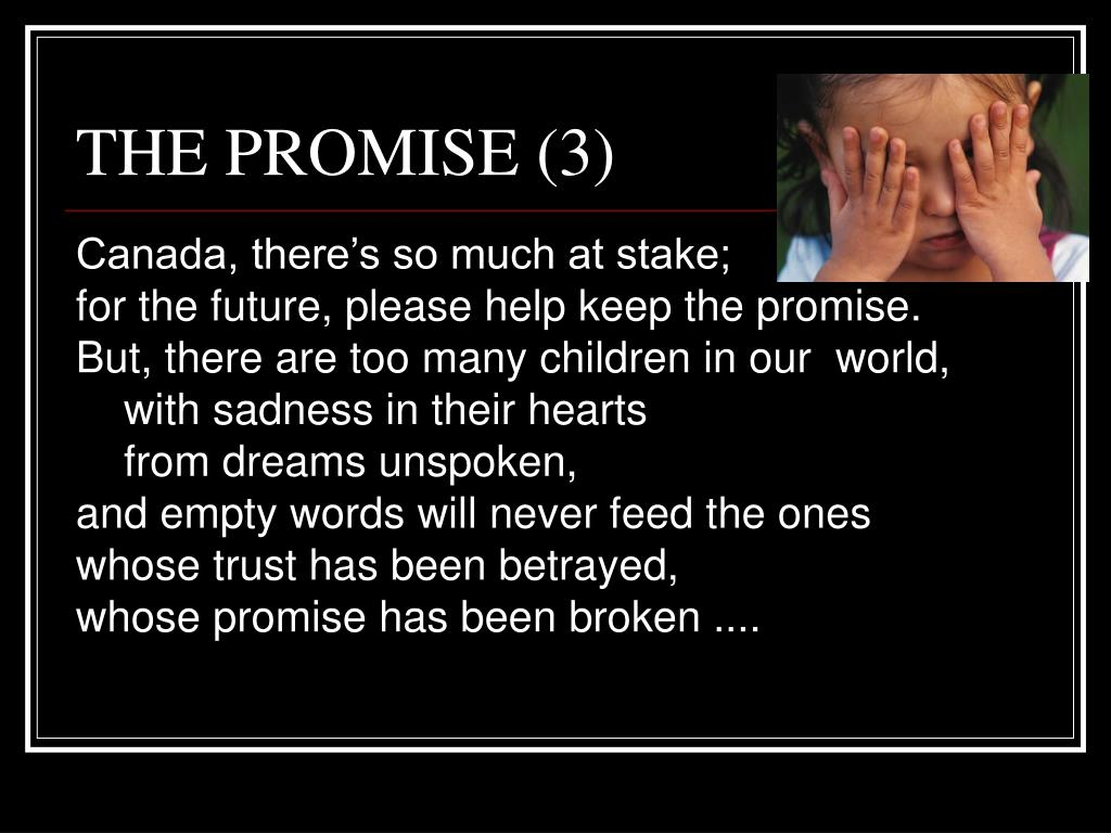 THE PROMISE (3)