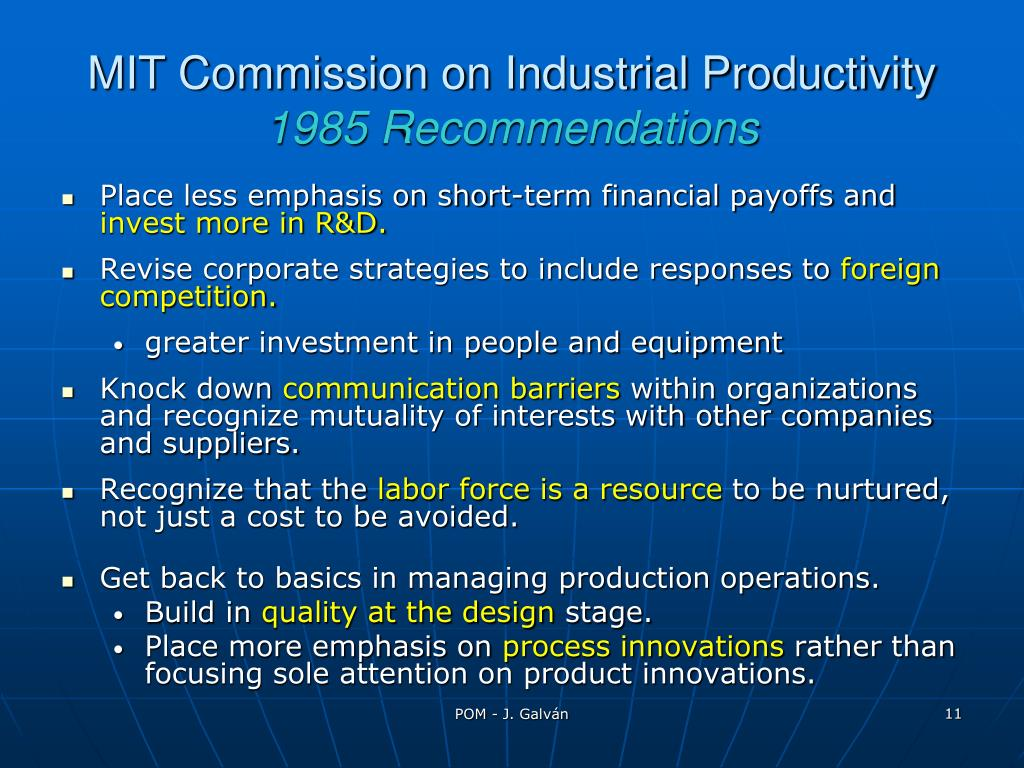 MIT Commission on Industrial Productivity