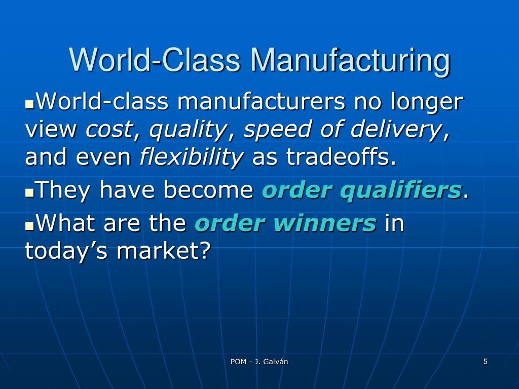 World-Class Manufacturing