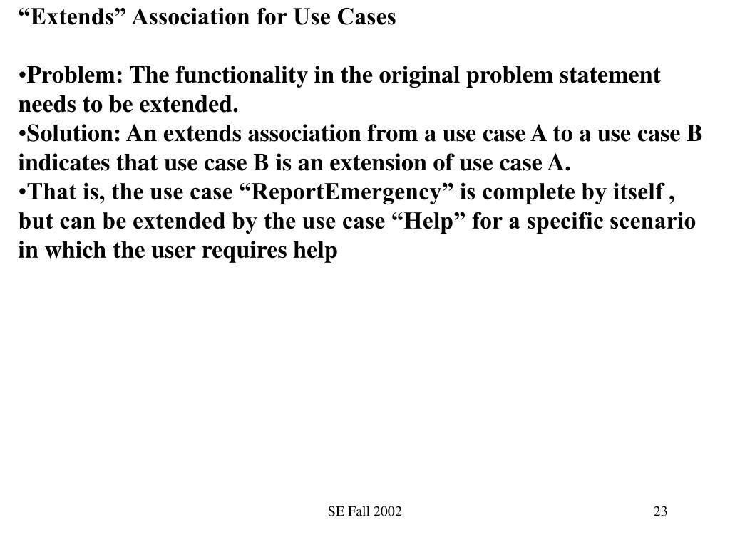 """""""Extends"""" Association for Use Cases"""