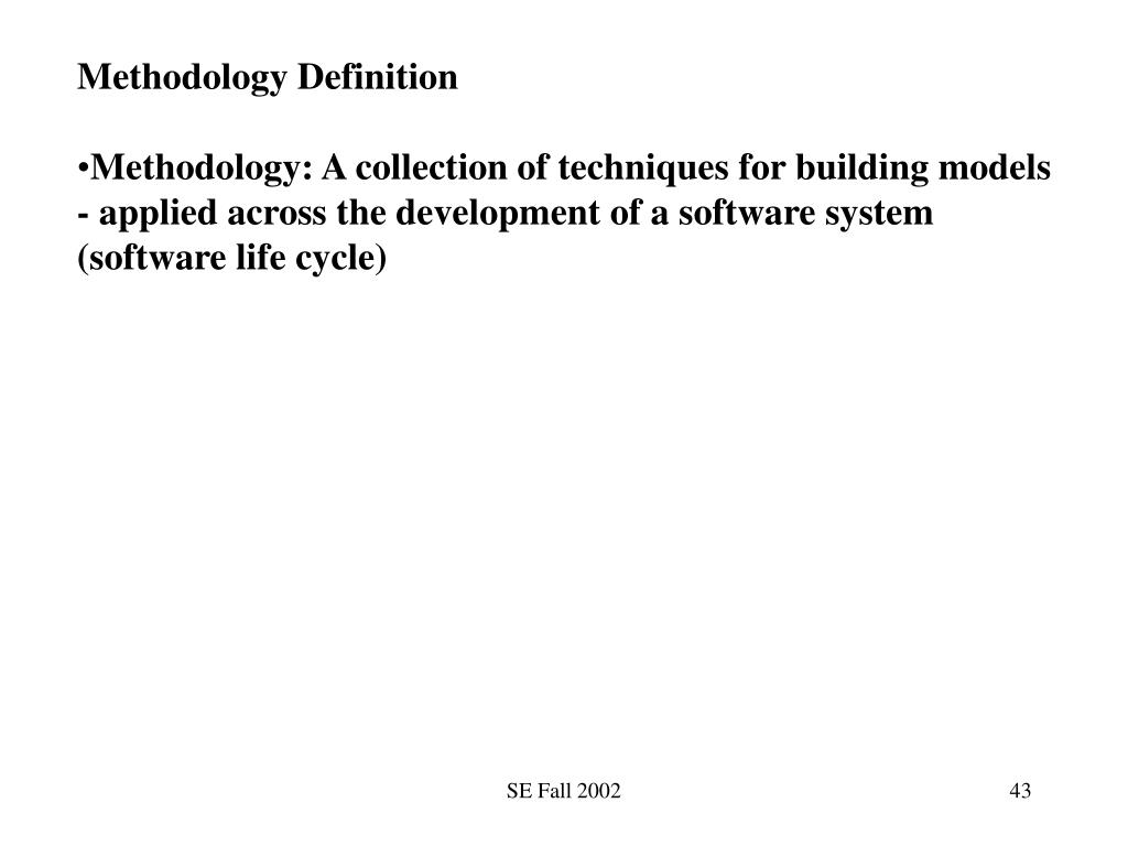 Methodology Definition
