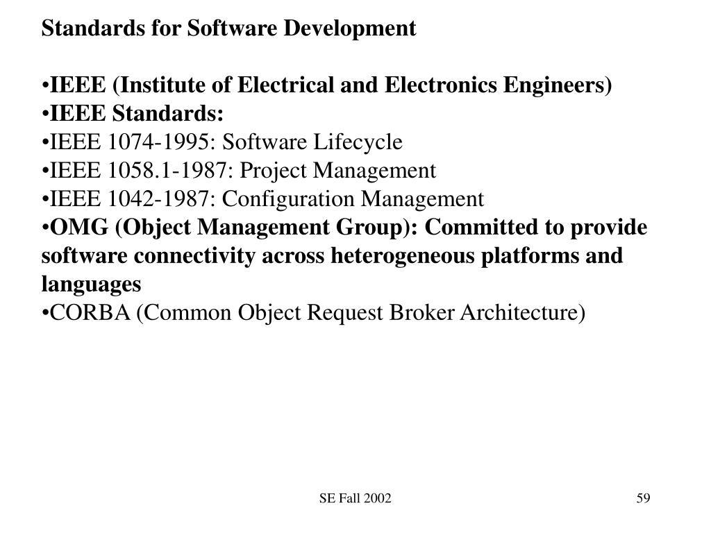 Standards for Software Development