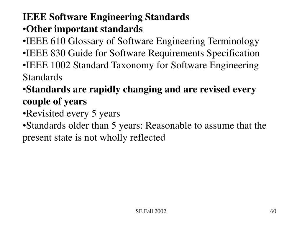 IEEE Software Engineering Standards