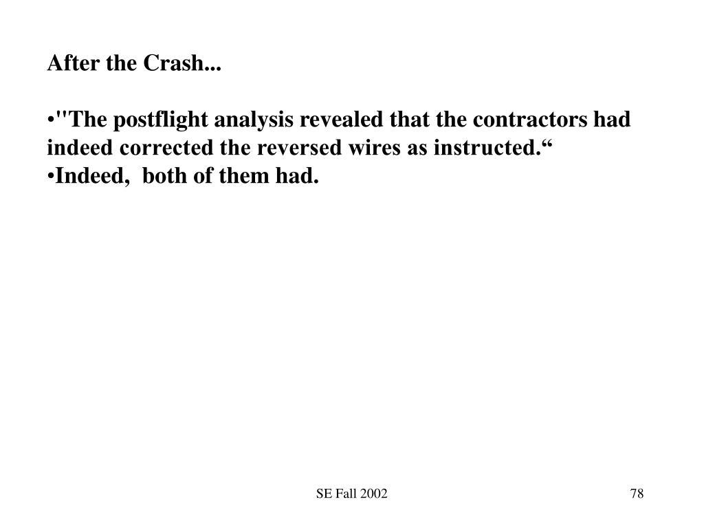 After the Crash...