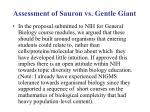 assessment of sauron vs gentle giant