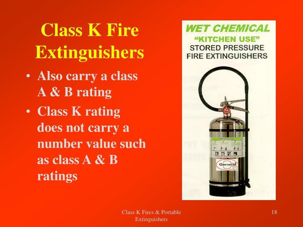 Class K Fire Extinguishers