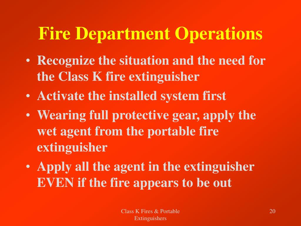 Fire Department Operations
