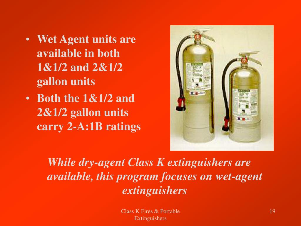 Wet Agent units are available in both 1&1/2