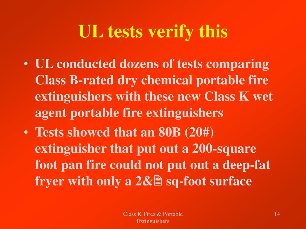 UL tests verify this