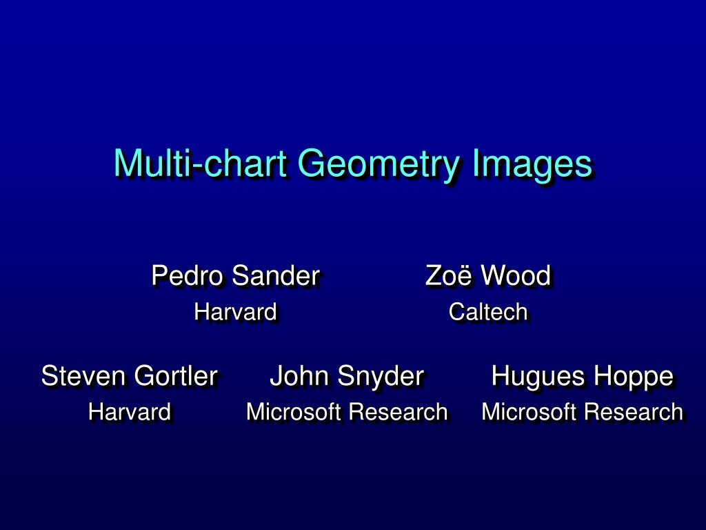 multi chart geometry images