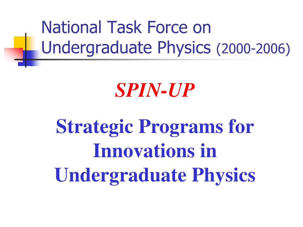 National Task Force on Undergraduate Physics