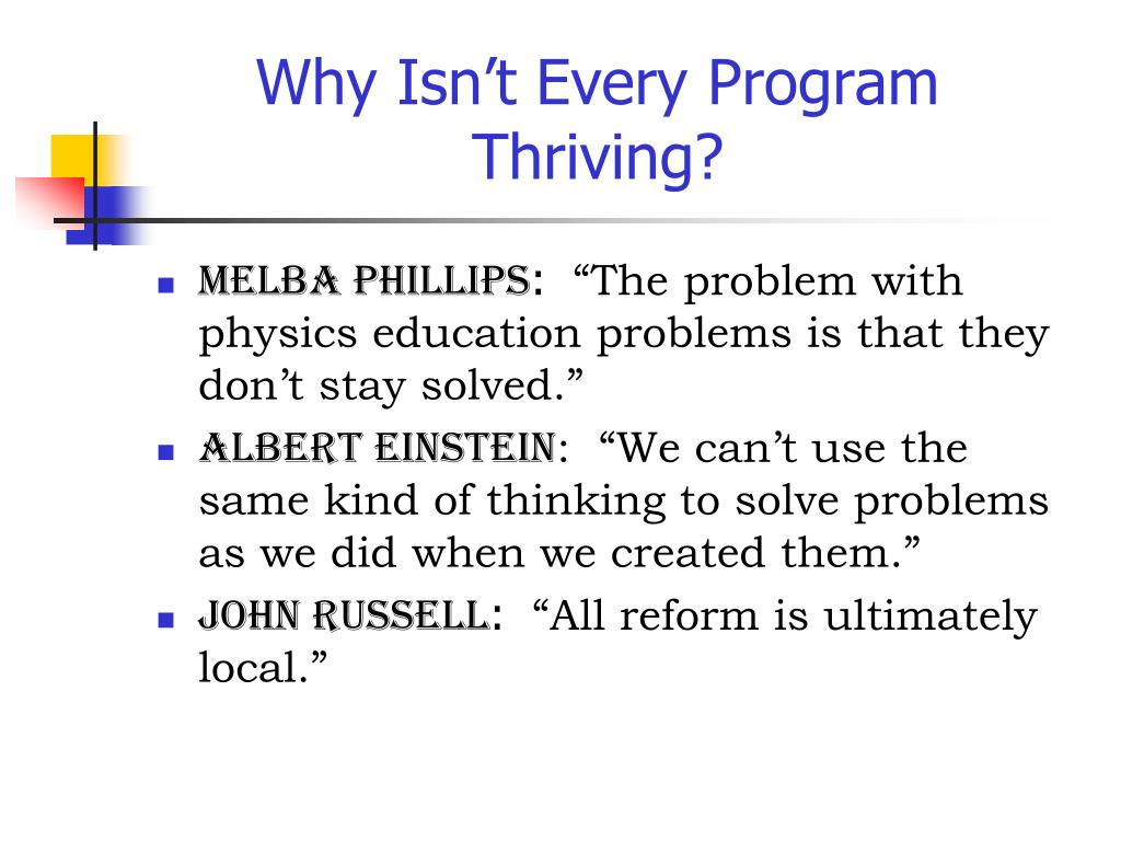 Why Isn't Every Program Thriving?
