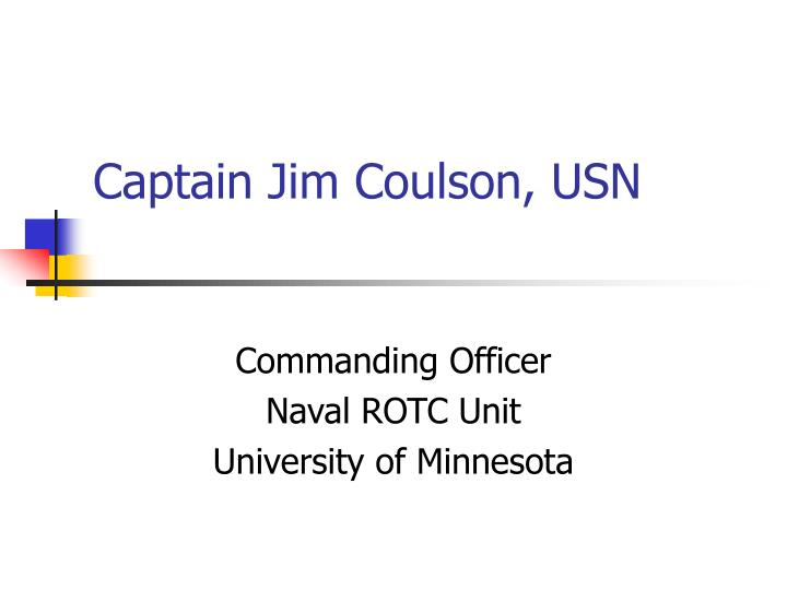 captain jim coulson usn n.