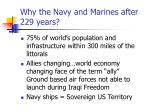 why the navy and marines after 229 years