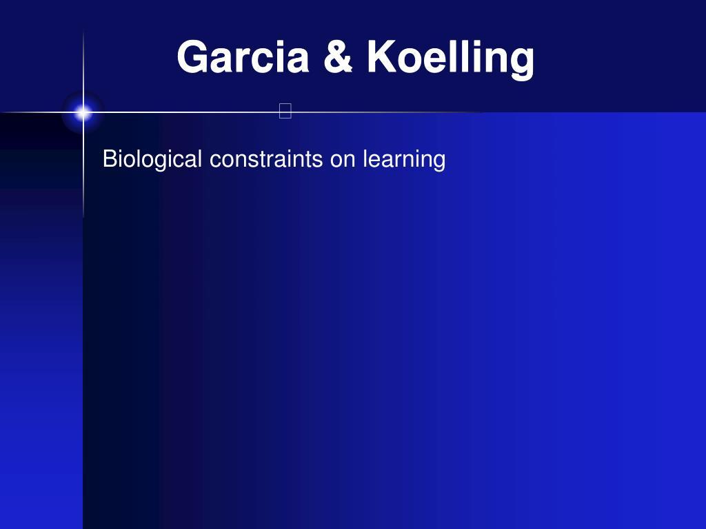 Garcia & Koelling