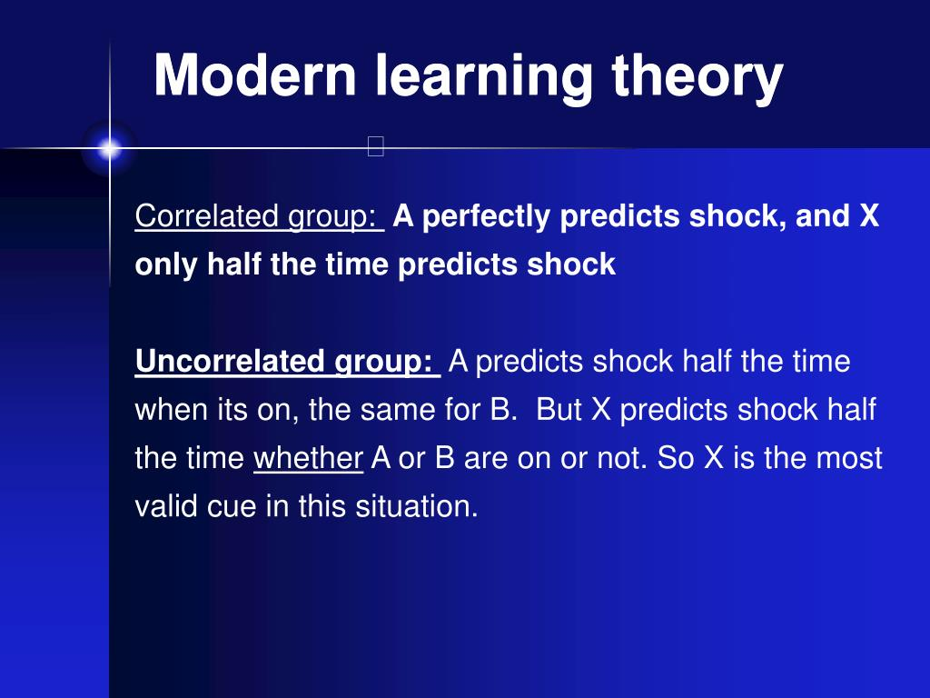 Modern learning theory