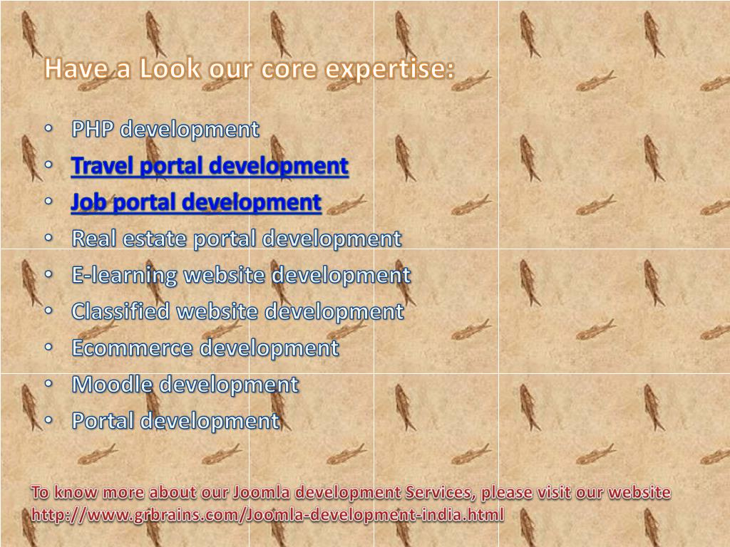Have a Look our core expertise