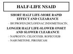 half life nsaid