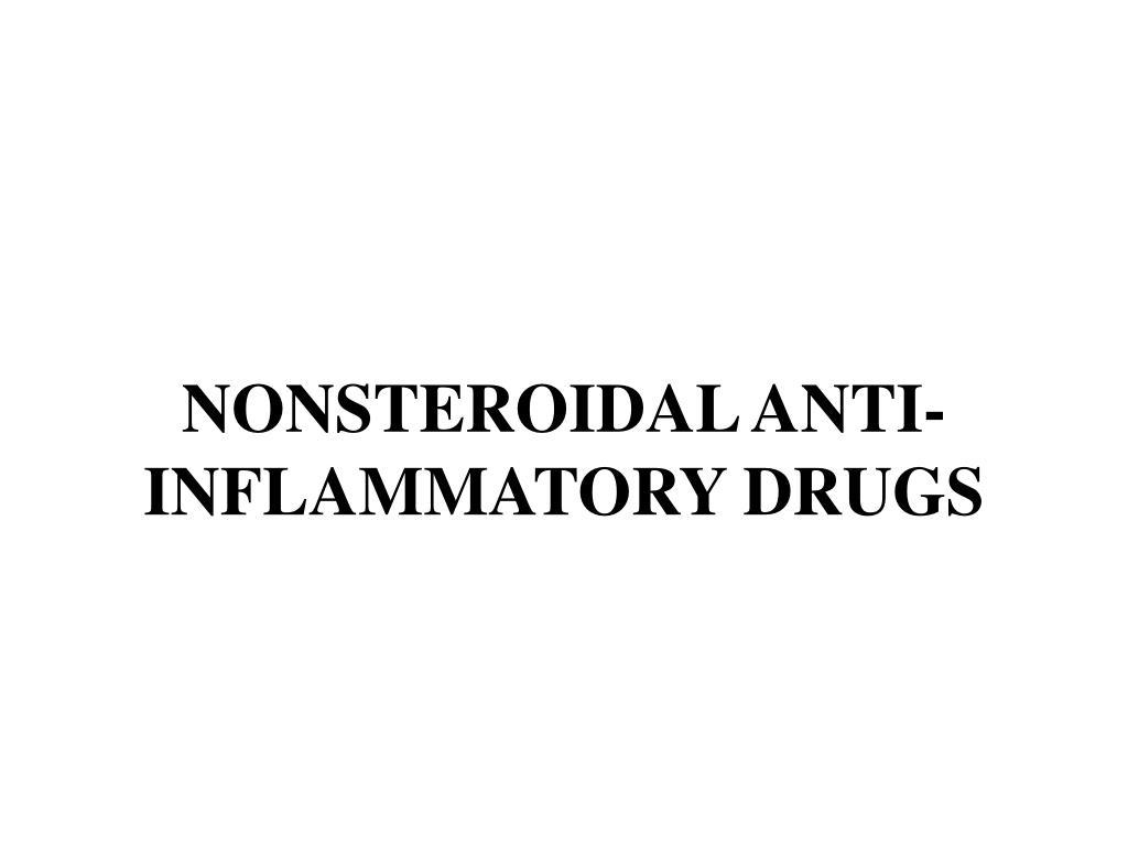 nonsteroidal anti inflammatory drugs l.