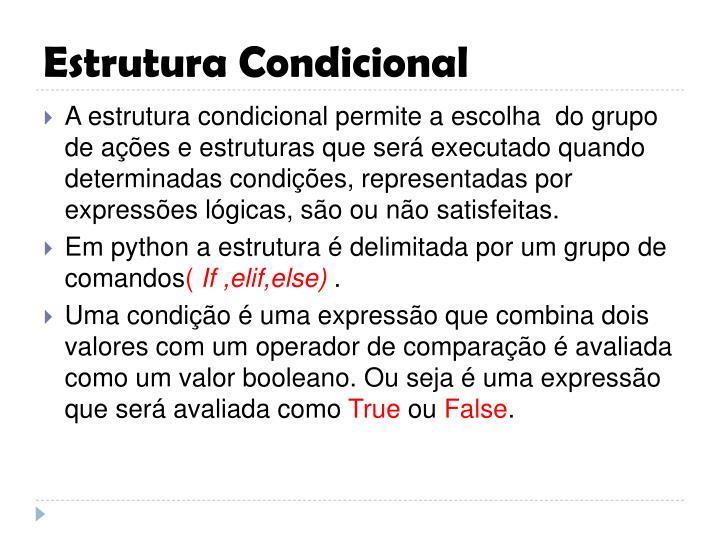 Estrutura condicional2