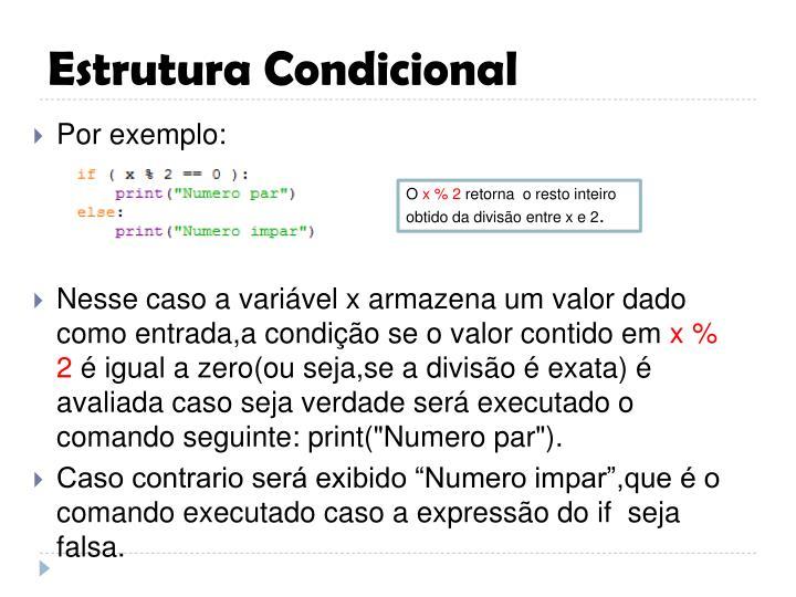 Estrutura condicional3