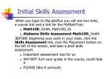 initial skills assessment