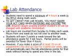 lab attendance