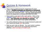 quizzes homework