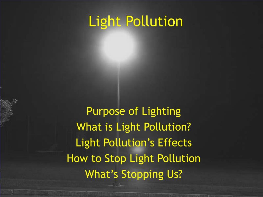 PPT - Light Pollution PowerPoint Presentation - ID:561874