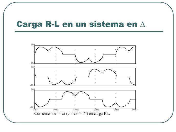 Carga R-L en un sistema en