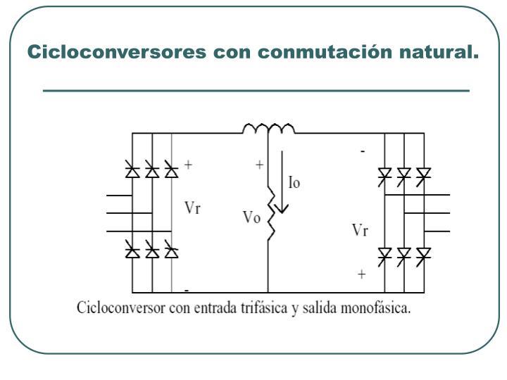 Cicloconversores con conmutación natural.