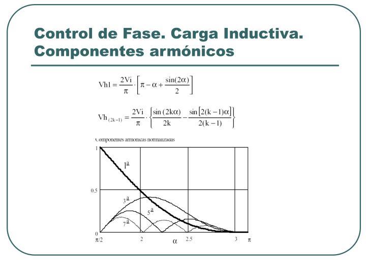Control de Fase. Carga Inductiva. Componentes armónicos