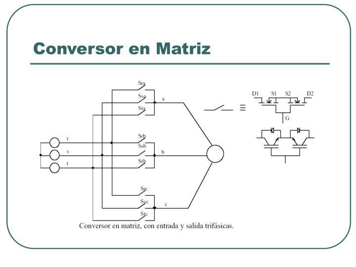 Conversor en Matriz