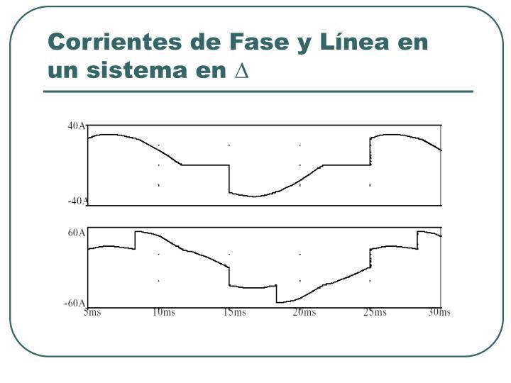 Corrientes de Fase y Línea en un sistema en
