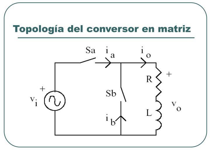 Topología del conversor en matriz