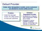 default provider