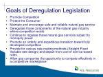 goals of deregulation legislation