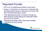 regulated provider