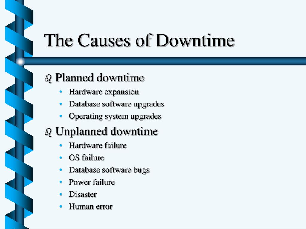 The Causes of Downtime