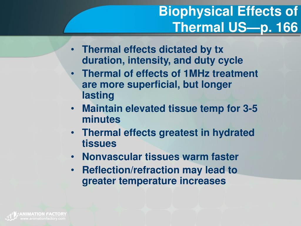 Biophysical Effects of Thermal US—p. 166