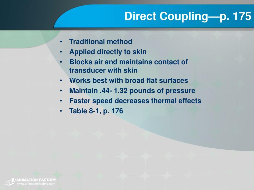 Direct Coupling—p. 175