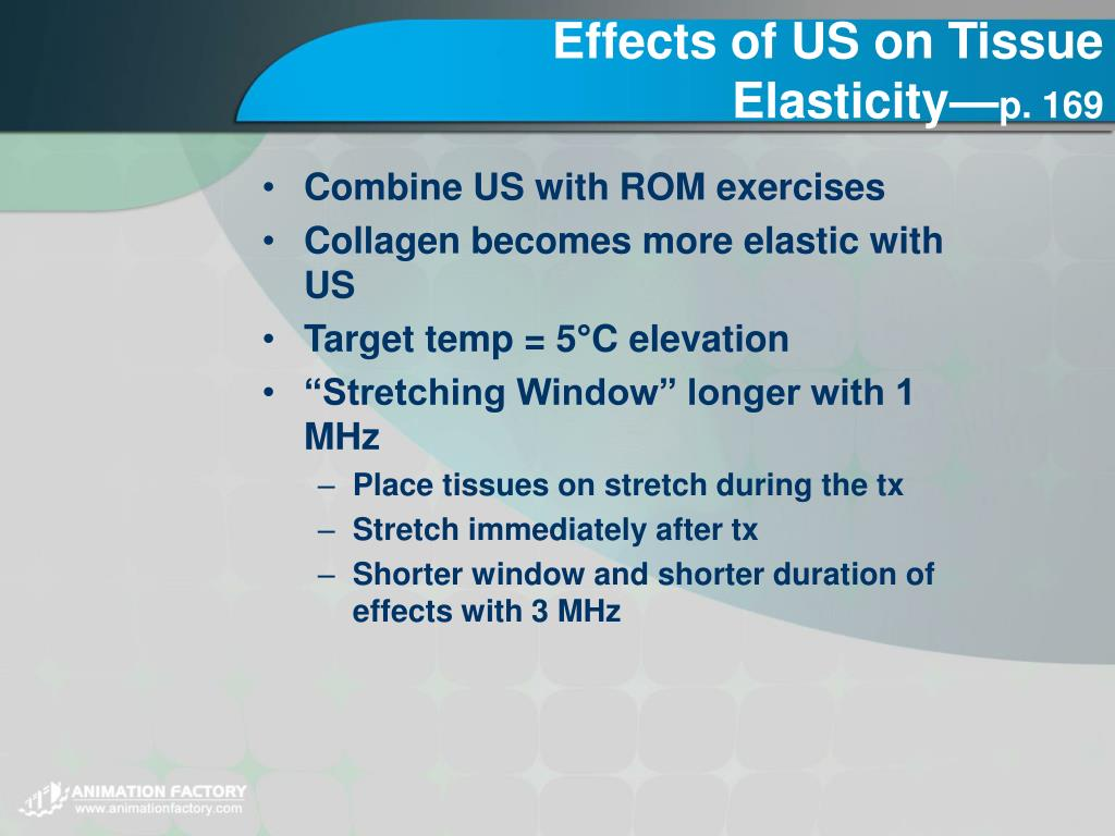 Effects of US on Tissue Elasticity—