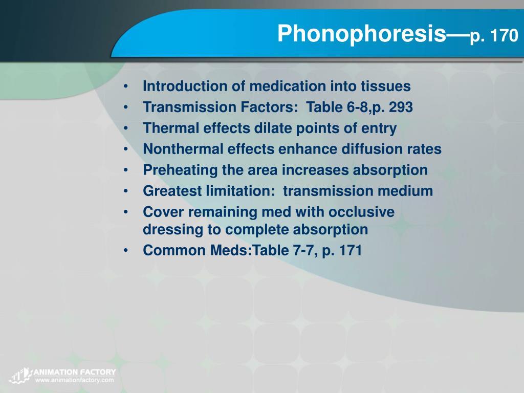 Phonophoresis—