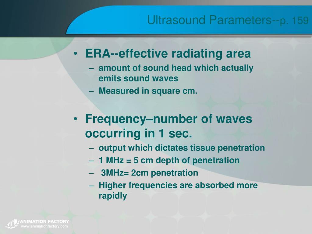 Ultrasound Parameters--