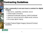 contracting guidelines