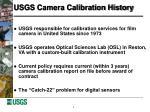 usgs camera calibration history